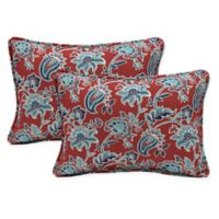 Arden Selections™ Caspian Oblong Indoor/Outdoor Lumbar Pillows in Red (Set of 2)