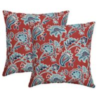 Arden Selections™ Caspian Square Indoor/Outdoor Throw Pillows in Red (Set of 2)