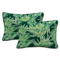 Arden Selections™ Quintana Oblong Indoor/Outdoor Lumbar Pillows in Green (Set of 2)