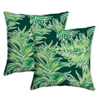 Arden Selections™ Quintana Square Indoor/Outdoor Throw Pillows in Green (Set of 2)
