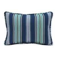 Arden Selections™ Aurora Stripe Indoor/Outdoor Oblong Lumbar Pillows in Blue (Set of 2)