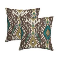 Selections by Arden Tenganan Square Throw Pillows in Brown (Set of 2)