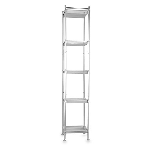 Satin Nickel 5-Shelf Mesh Tower