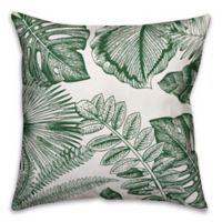 Designs Direct Palm Fronds Indoor/Outdoor Square Throw Pillow in Green