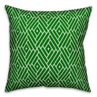 Designs Direct Diamond Indoor/Outdoor Square Throw Pillow in Lime