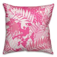Designs Direct Palms Indoor/Outdoor Square Throw Pillow in Pink