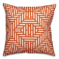 Designs Direct Aztec-Inspired Indoor/Outdoor Square Throw Pillow in Orange