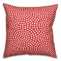 Designs Direct Rotating Circles Indoor/Outdoor Square Throw Pillow in Red