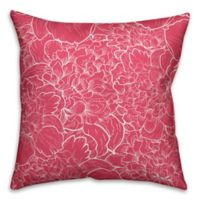 Designs Direct Florals Indoor/Outdoor Square Throw Pillow in White/Pink