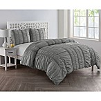 VCNY Home Holly King Duvet Cover Set in Silver