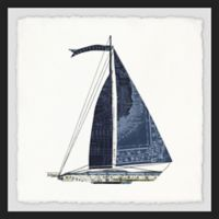 Marmont Hill Set Sail III 12-Inch Square Framed Wall Art