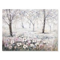 Forest Canvas Wall Art in Lavender/Pink