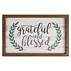 Grateful and Blessed Framed Wall Decor