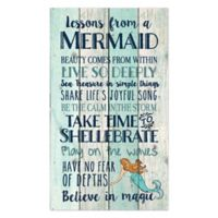 P. Graham Dunn Advice from a Mermaid Wood Wall Art