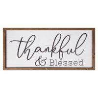 P. Graham Dunn Thankful & Blessed Framed Wood Wall/Tabletop Art