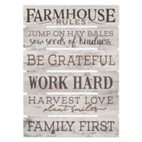 P. Graham Dunn Farmhouse Rules Wood Wall Art