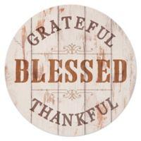 P. Graham Dunn Grateful Thankful Round Wood Wall Art