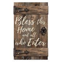 P. Graham Dunn Bless This Home Door Wood Wall Art