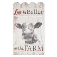 P. Graham Dunn Life Is Better Fence Wood Wall Art