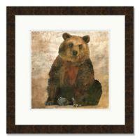 Friendly Bear 25-Inch Square Framed Wall Art