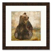Playful Bear 25-Inch Square Framed Wall Art