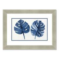 Navy Palms 35-Inch x 26-Inch Framed Wall Art