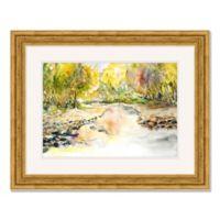 Summer Creek 35-Inch x 28-Inch Framed Wall Art