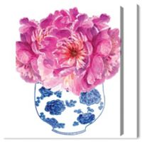 Oliver Gal Morning Peonies 17-Inch x 20-Inch Canvas Wall Art