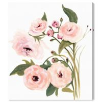 Oliver Gal Blush Garden 16-Inch x 13-Inch Canvas Wall Art in White