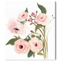 Oliver Gal Blush Garden 20-Inch x 17-Inch Canvas Wall Art in White
