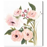 Oliver Gal Blush Garden 28-Inch x 24-Inch Canvas Wall Art in White
