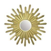Fetco Home Decor Bembury 29.5-Inch Round Mirror in Champagne