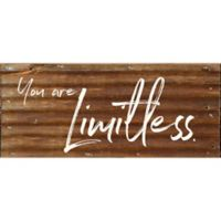 Second Nature by Hand™ You Are Limitless Reclaimed Metal Wall Art in Brown