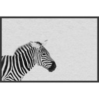 Marmont Hill Black and White Stripes 24-Inch x 16-Inch Framed Wall Art