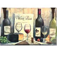 Wine List Wood/Metal Wall Art