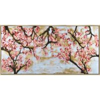 Pink and Gold Blossoms 30-Inch x 60-Inch Framed Wall Art