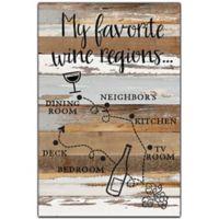 Sweet Bird & Co.Wine Regions 18-Inch x 12-Inch Wood Wall Art