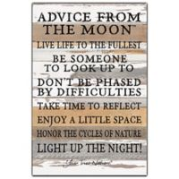 "Sweet Bird & Co. ""Advise from the Moon"" 12-Inch x 18-Inch Wood Wall Art"