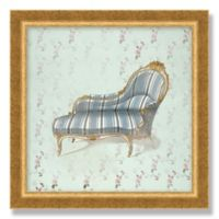 Victorian Chaise 12-Inch Square Framed Wall Art