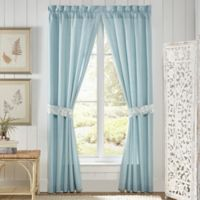 Croscill® Willa 84-Inch Rod Pocket Window Curtain Panel Pair in Soft Aqua