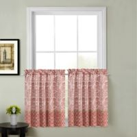 Calais 45-Inch Kitchen Window Curtain Tier Pair in Red