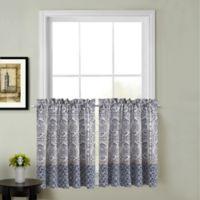 Calais 24-Inch Kitchen Window Curtain Tier Pair in Indigo
