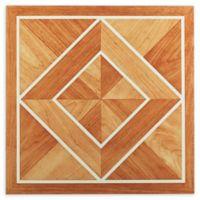Achim Nexus 20-Pack 12-Inch Inlaid Parquet Floor Tiles in Orange