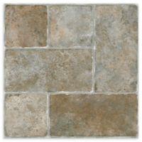Achim Nexus 20-Pack 12-Inch Quartose Floor Tiles in Brown