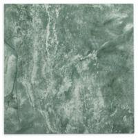 Achim Nexus 20-Pack 12-Inch Verde Marble Vein Floor Tiles in Green