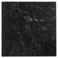 Achim Nexus 1' Square Vinyl Floor Tiles in Black Marble with White Veins (Set of 20)