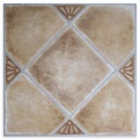 Achim Nexus 1' Square Vinyl Floor Tiles in Beige Clay Diamond (Set of 20)