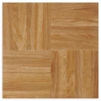 Achim Nexus 1' Square Vinyl Floor Tiles in Oak Parquet (Set of 20)