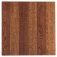 Achim Nexus 1' Square Vinyl Floor Tiles in Medium Oak Plank (Set of 20)