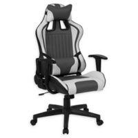 Flash Furniture Cumberland Swivel High-Back Chair in Grey/White